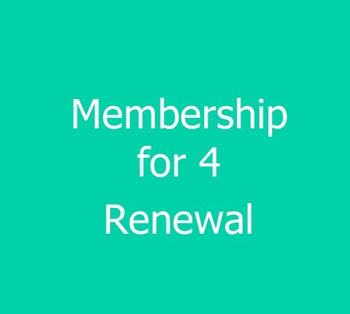 4 Person Family Membership - renewal